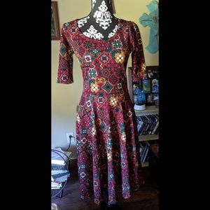 Lularoe Nicole fit & flare dress size small